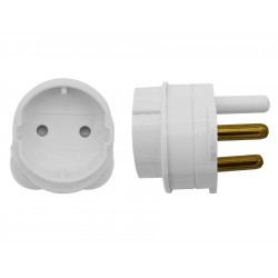 2-Pin Schuko to 16A 3-Pin Adaptor