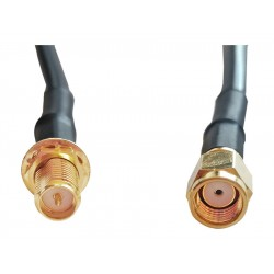 0.5M RPSMA Male to RPSMA Female Cable