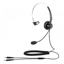 Calltel T800 Mono-Ear Noise-Cancelling Headset - Dual 3.5mm...