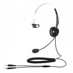 Calltel T400 Mono-Ear Noise-Cancelling Headset - Dual 3.5mm...