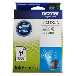 Brother LC535XL-C InkBenefit Cyan Cartridge