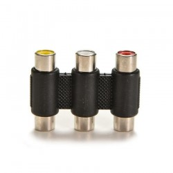3RCA (Female) to 3RCA (Female) Adapter