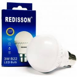 Redisson 3W B22 LED Light Bulb