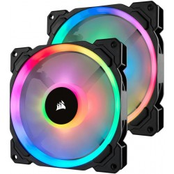 Corsair 140mm Dual Light Loop RGB LED PWM 2 Fan Pack with...