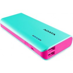 Adata PT100 Tiffany Blue and Magenta 10000mAh Power Bank