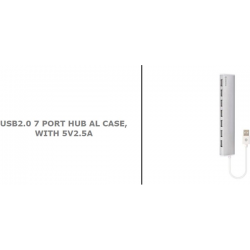 MECER 7 PORT EXTERNAL USB 2.0 HUB w/2.5A