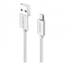 Orico Micro USB Braided Charging Data 1m Cable Silver