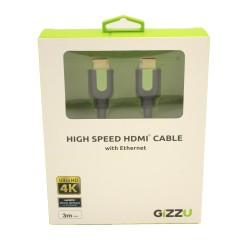 Gizzu High Speed HDMI 3m Cable with Ethernet