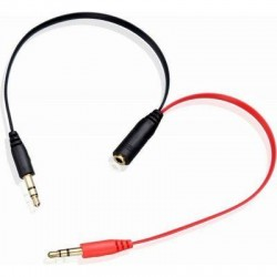 Aux 3.5mm Convert Cable, 3.5mm female - 2 x 3.5mm male,...