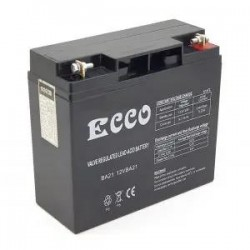 Ecco 12V BA21 Sealed Lead Acid Rechargeable Battery