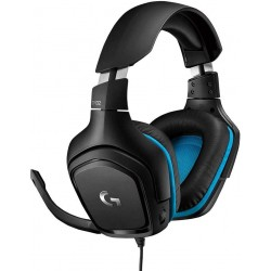Logitech G432 7.1 Virtual Surround Sound Black/Blue Gaming...