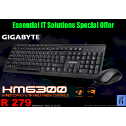 GIGABYTE KM6300 - Wired Keyboard & Mouse Combo With...