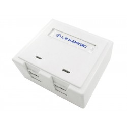 Linkbasic Cat6a Double Surface Mount Box