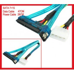 SATA Data and Power Connector to 1 x Molex and Data