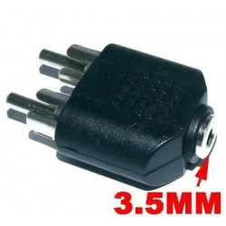 3.5mm Female to 2 x RCA Male adaptor