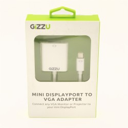 GIZZU Mini Display Port to VGA Adapter White