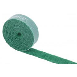 Orico Reusable |Dividable Hook and Loop Cable 1m Ties Green