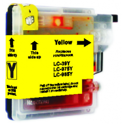 Brother LC39Y Compatible Yellow Cartridge