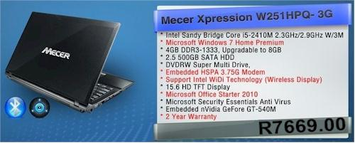 Mecer Xpression W251HPQ