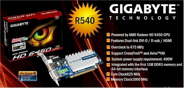 Gigabyte Radeon Hd 6450 Graphics Card