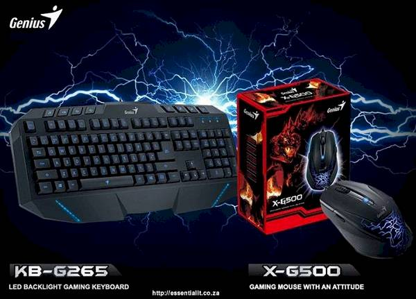 Genius KB-G265 gaming keybaord and Genius X-G500 gaming mouse