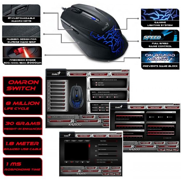 Genius X-G500 gaming mouse features